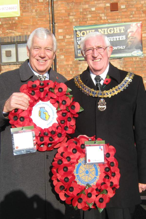 Ray Terry (Long Eaton Chamber of Trade) and George Mounsey (Long Eaton Rotary Club)